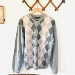 Banana Republic Silk & Cashmere Argyle Sweater